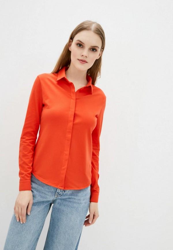 женская рубашка с длинным рукавом promin, оранжевая