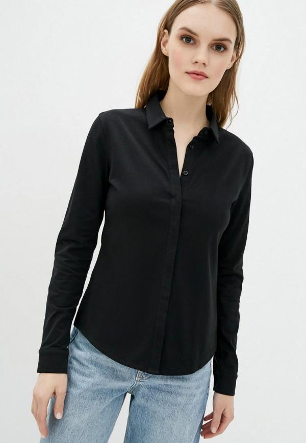 женская рубашка с длинным рукавом promin, черная