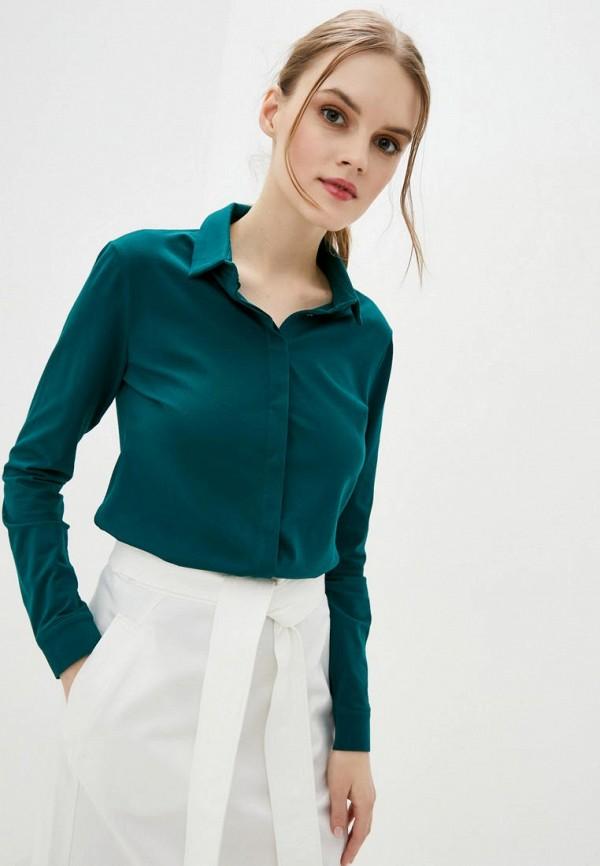 женская рубашка с длинным рукавом promin, зеленая