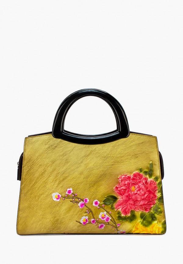 женская сумка с ручками laccoma, желтая