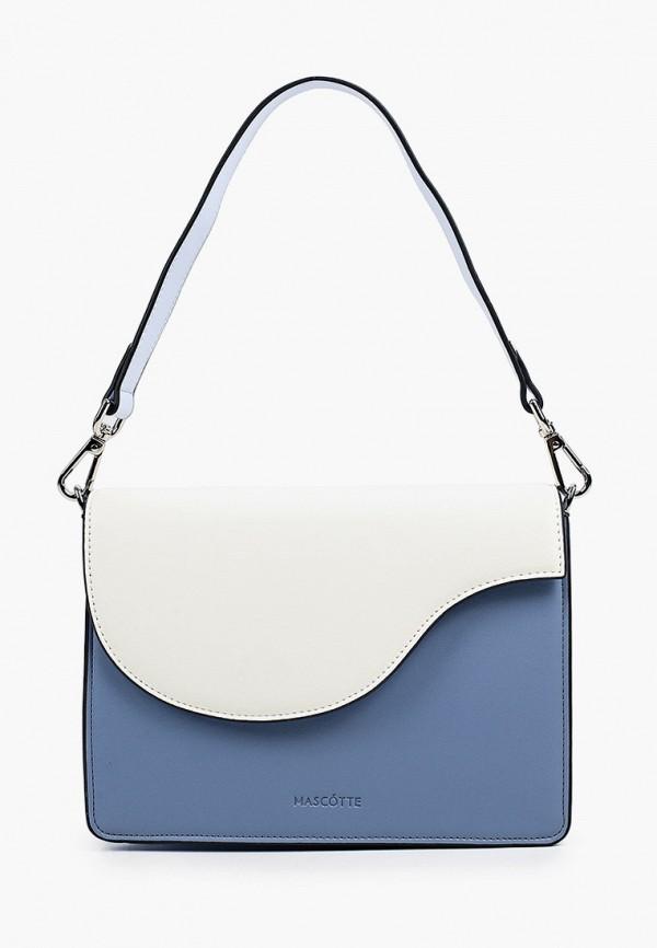 женская сумка через плечо mascotte, синяя