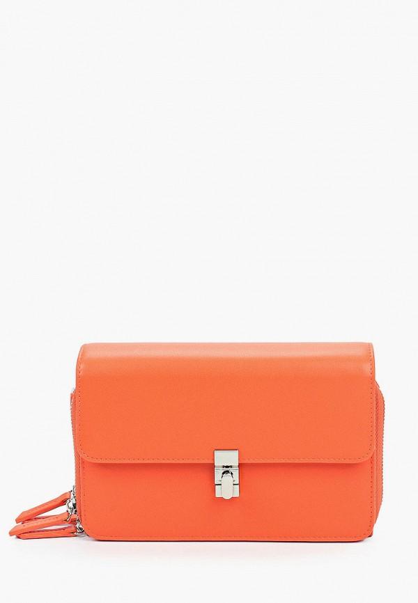 женская сумка через плечо mascotte, оранжевая