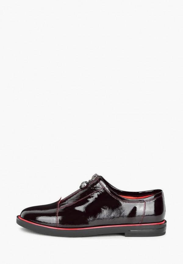 женские низкие ботинки pierre cardin, бордовые