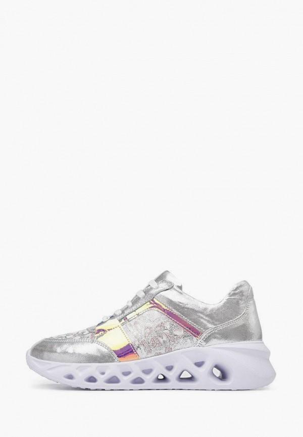 женские низкие кроссовки pierre cardin, серебряные
