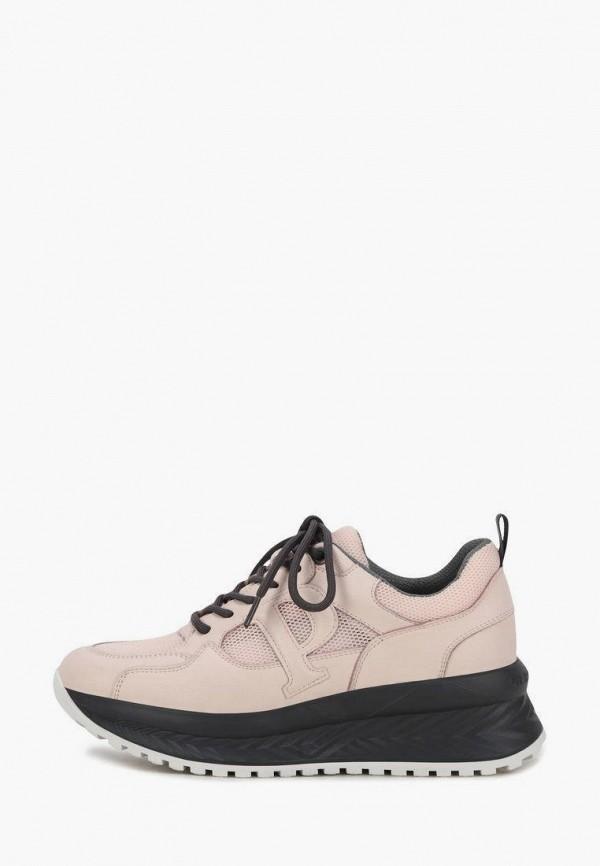 женские низкие кроссовки pierre cardin, розовые
