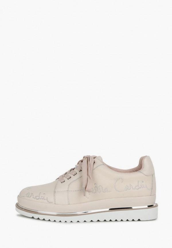 женские низкие ботинки pierre cardin, бежевые