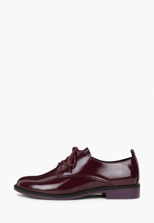 женские ботинки-оксфорды t.taccardi, бордовые
