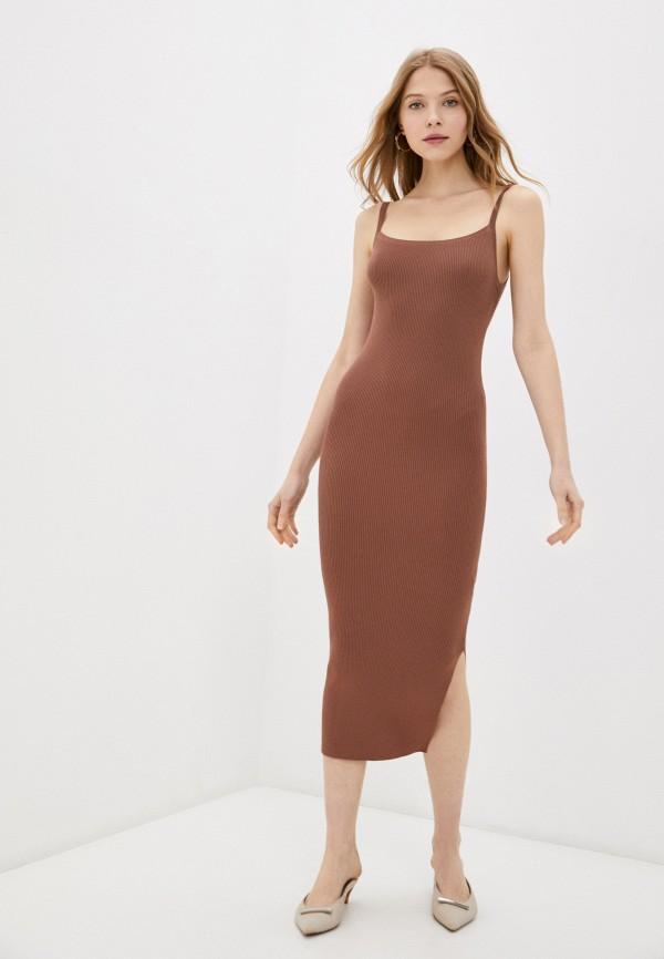женское платье love republic, коричневое