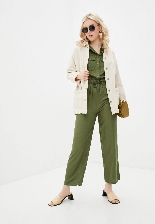 женский комбинезон с брюками incity, зеленый