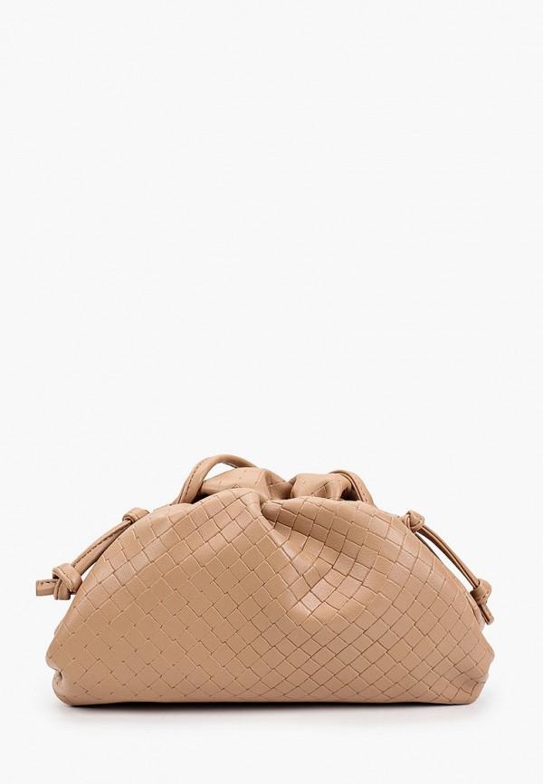 женская сумка через плечо incity, бежевая