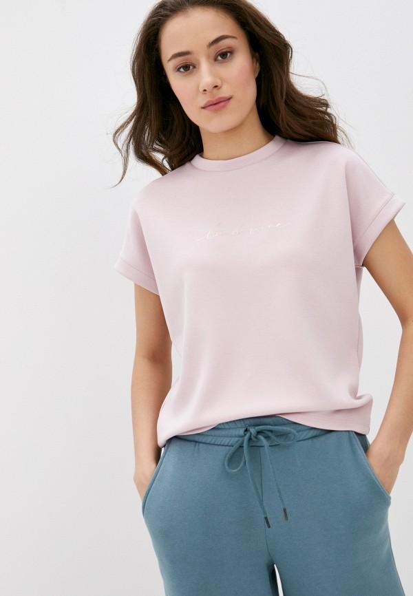 женская футболка o'stin, розовая