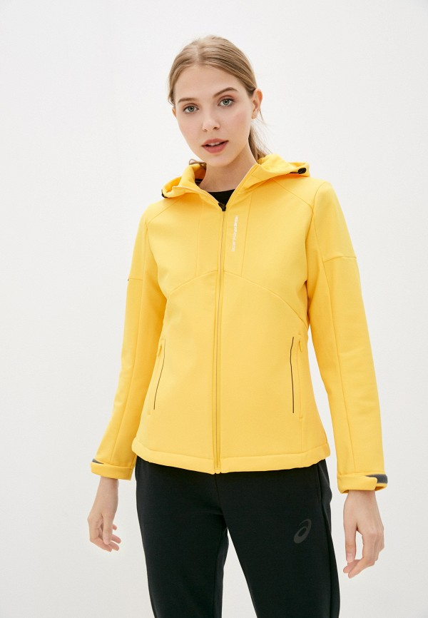 женская спортивные куртка high experience, желтая