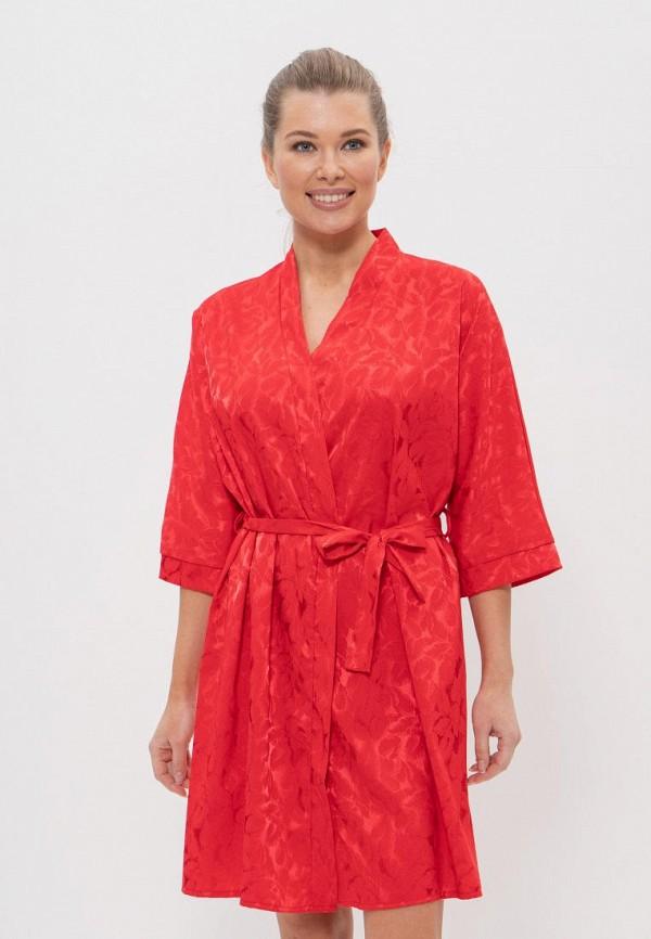 женский халат cleo, красный