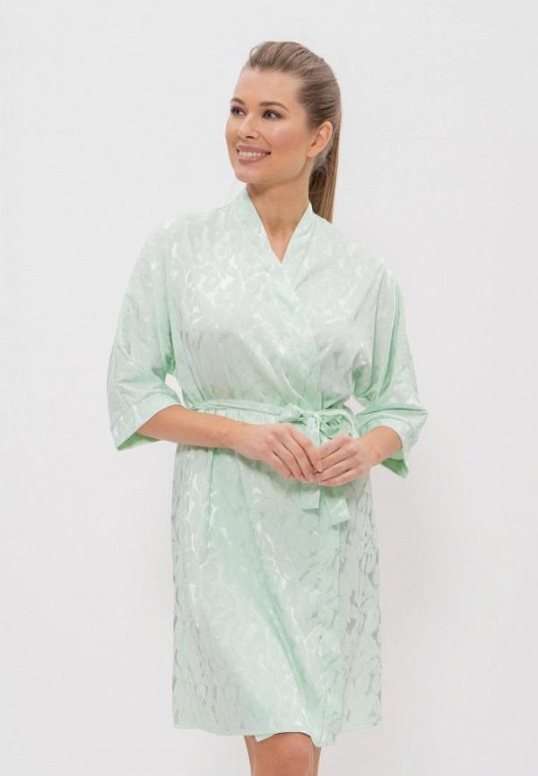 женский халат cleo, бирюзовый