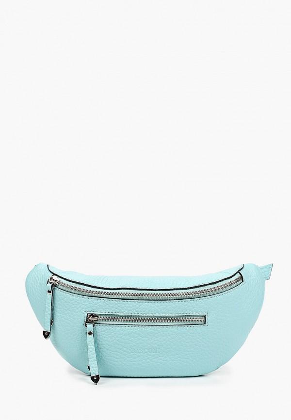 женская поясные сумка basconi, голубая