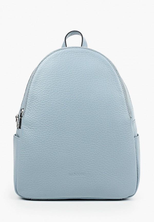 женский рюкзак basconi, голубой