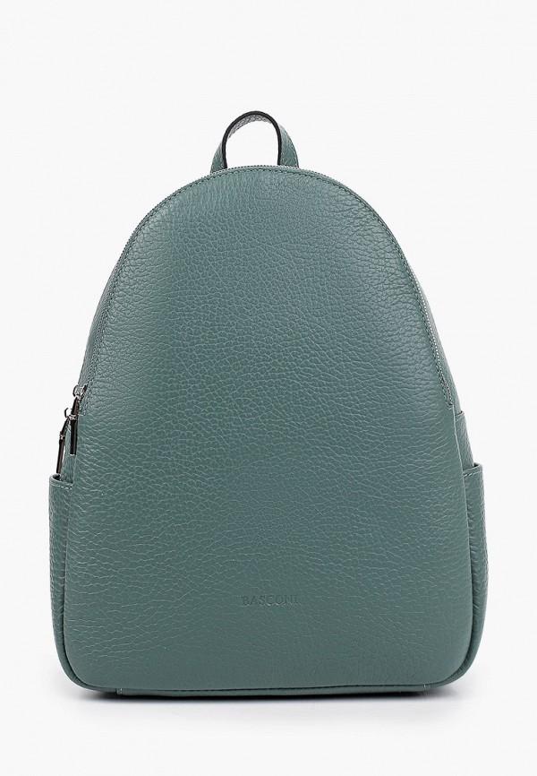 женский рюкзак basconi, зеленый