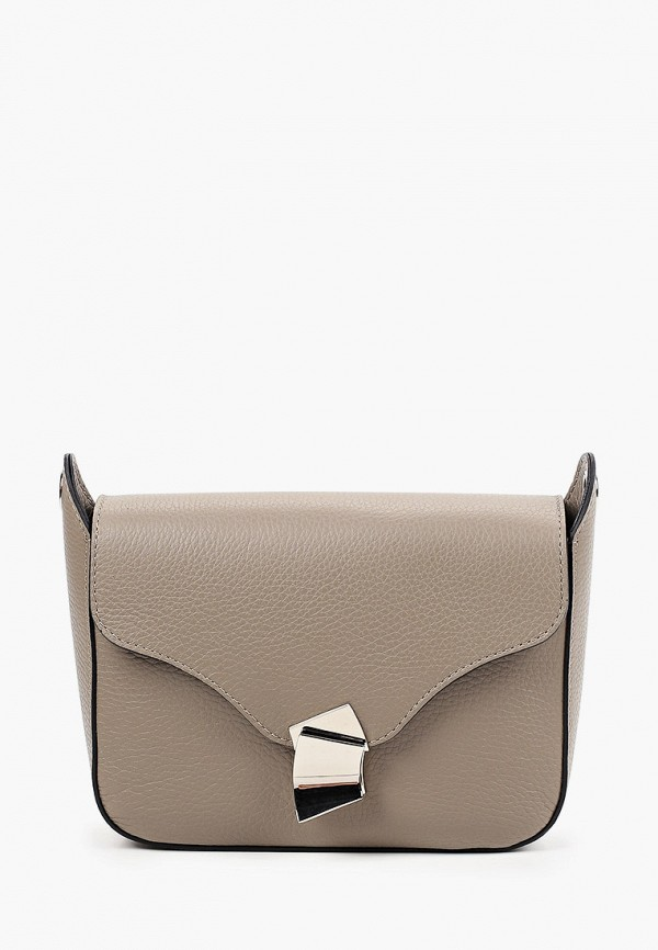 женская сумка через плечо basconi, бежевая