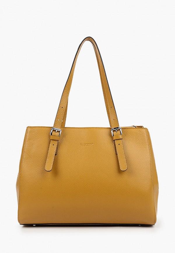 женская сумка с ручками basconi, желтая