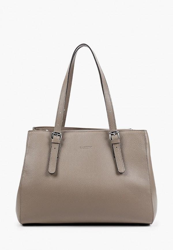 женская сумка с ручками basconi, бежевая