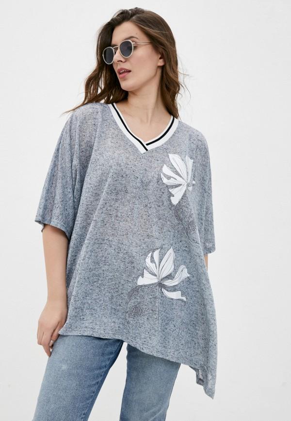 женский пуловер silver string, серый