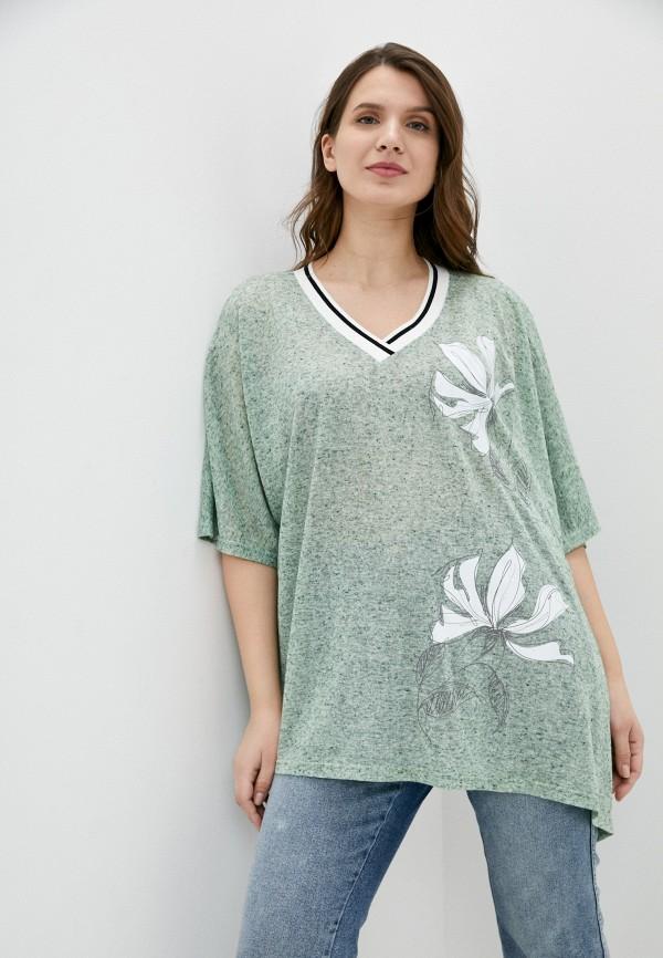женский пуловер silver string, зеленый