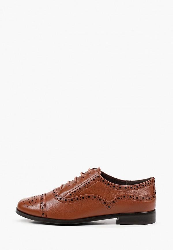 женские ботинки-оксфорды thomas munz, коричневые