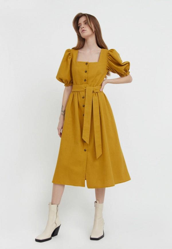 женское повседневные платье finn flare, оранжевое