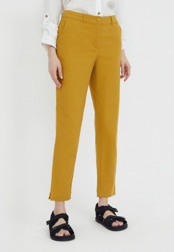 женские зауженные брюки finn flare, оранжевые