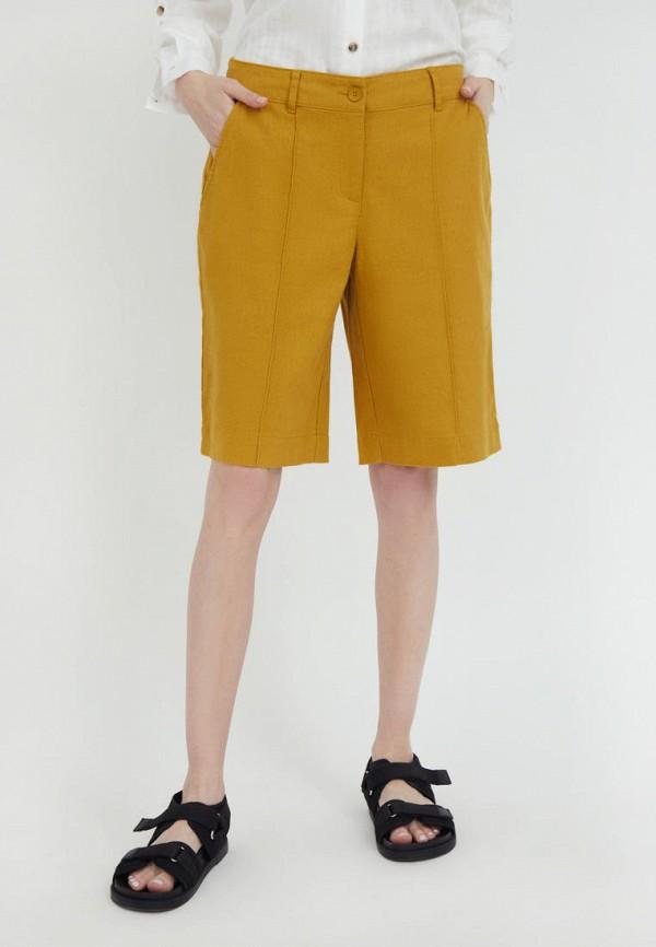 женские повседневные шорты finn flare, оранжевые