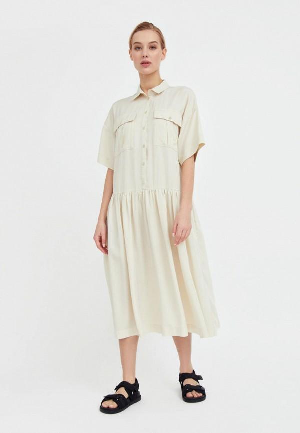 Платье Finn Flare бежевого цвета
