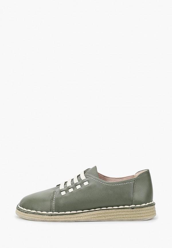 женские низкие ботинки thomas munz, зеленые