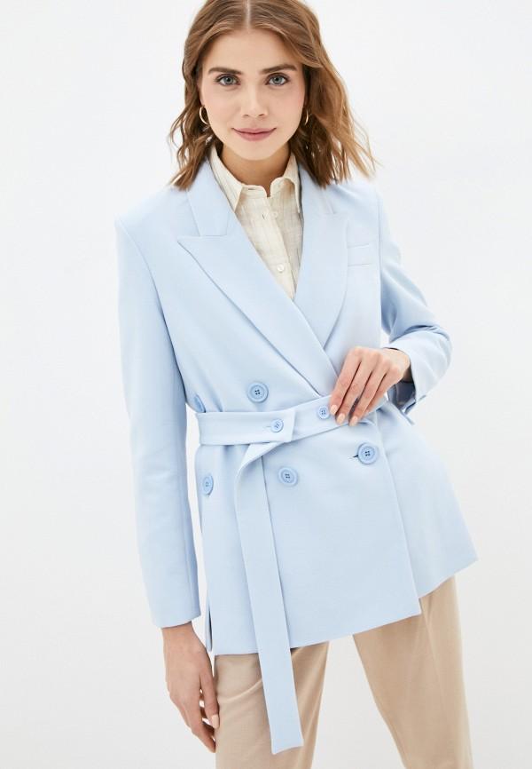 женский пиджак vika ra, голубой