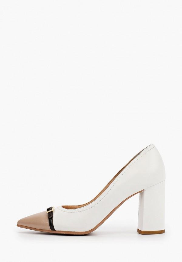 женские туфли с закрытым носом argo, белые
