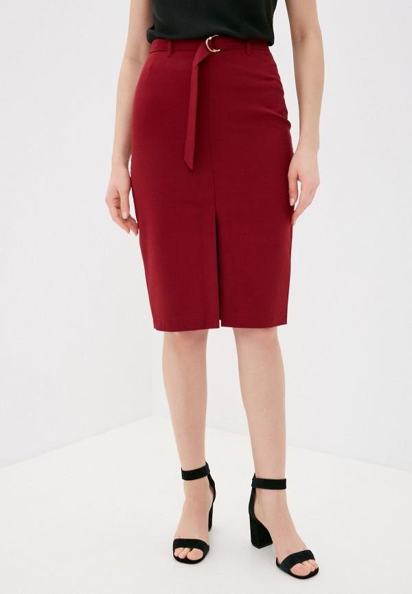 женская прямые юбка vittoria vicci, бордовая