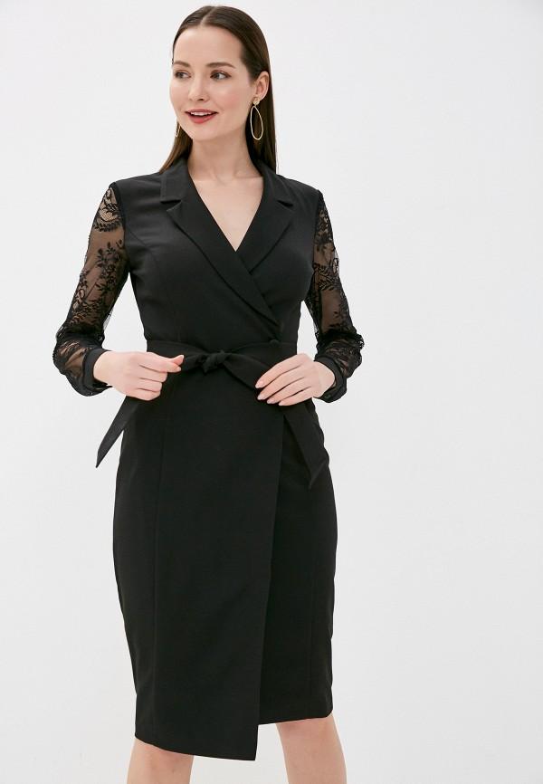 женское платье с запахом vittoria vicci, черное