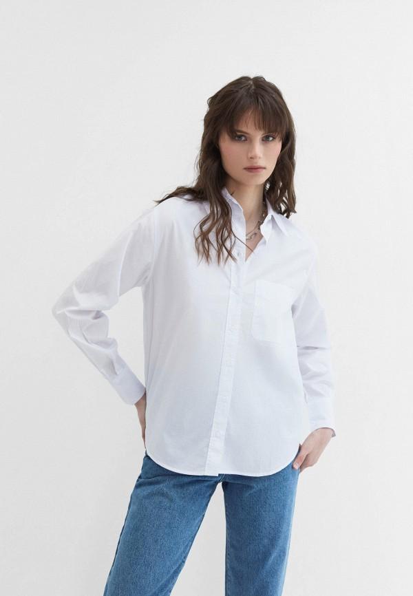 женская рубашка с длинным рукавом zarina, белая