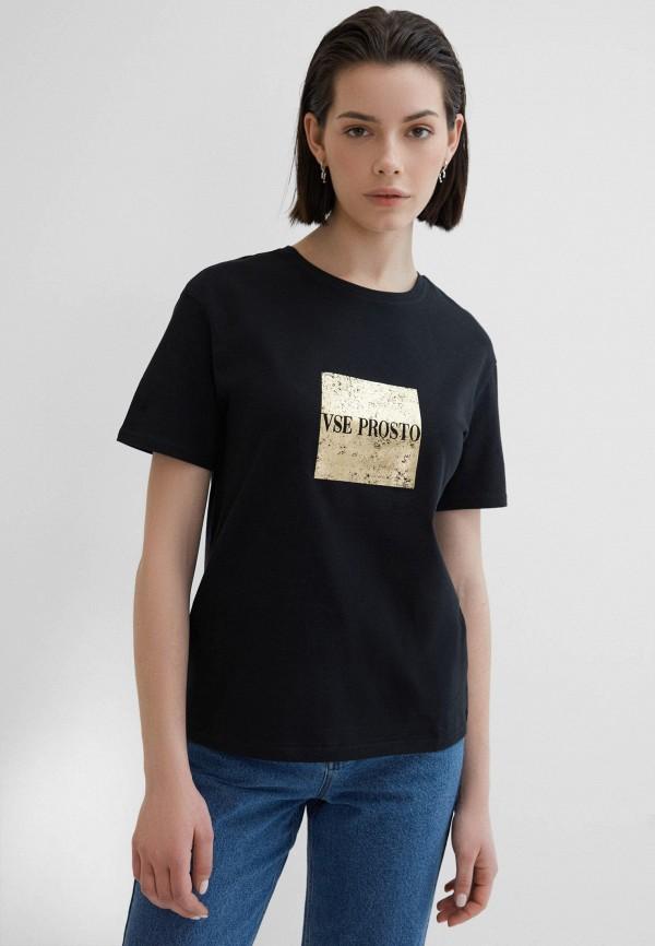 женская футболка zarina, черная