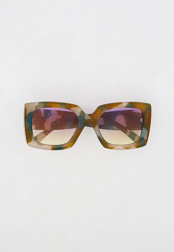 женские квадратные солнцезащитные очки mon mua, хаки
