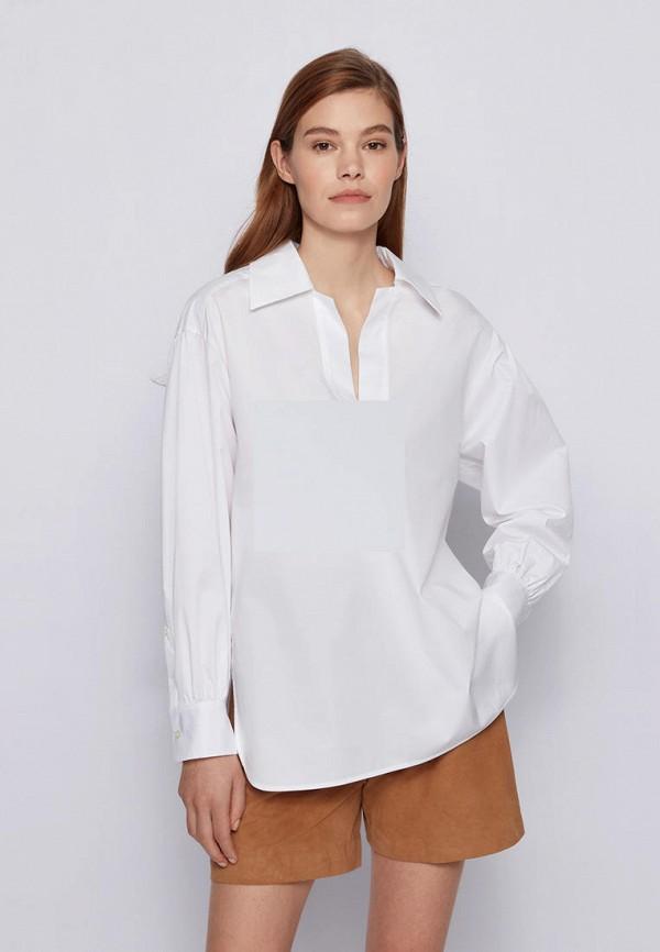 женская рубашка с длинным рукавом boss, белая