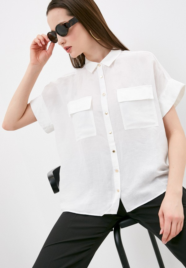 женская рубашка с коротким рукавом mavi, белая