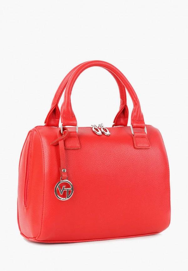 женская сумка с ручками vita, красная