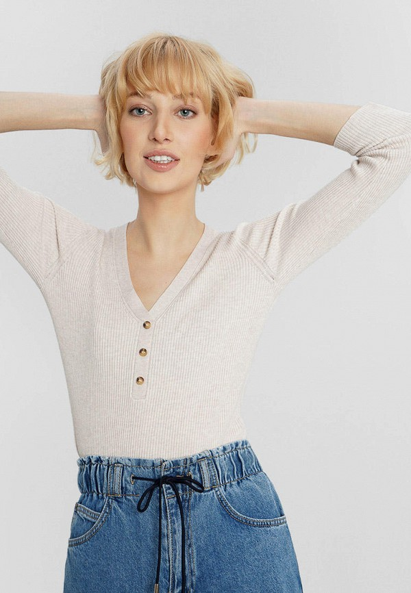 женский пуловер o'stin, бежевый