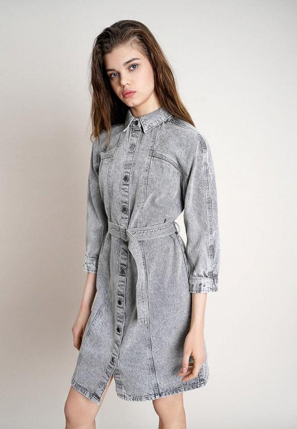 женское джинсовые платье o'stin, серое
