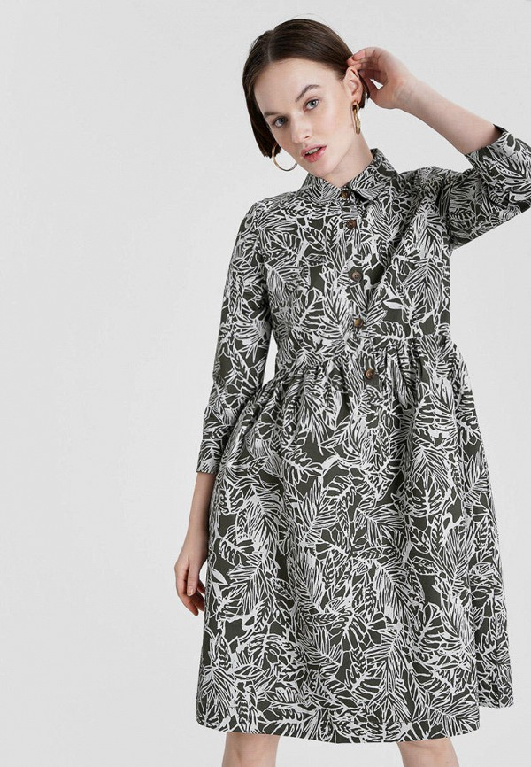женское платье o'stin, хаки