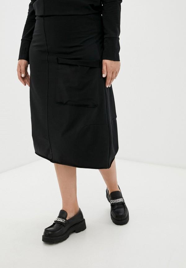 женская юбка-трапеции banzo, черная