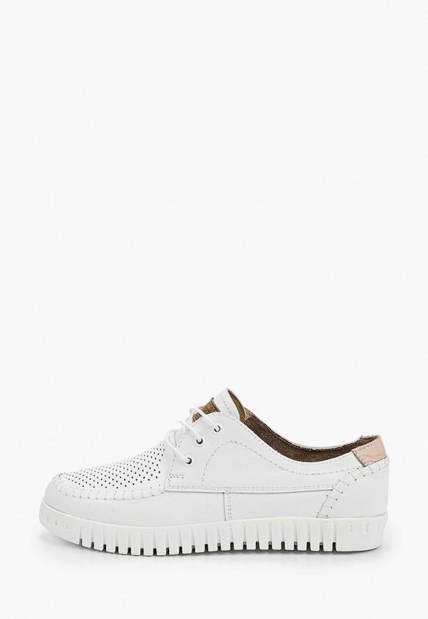 женские низкие ботинки shoiberg, белые