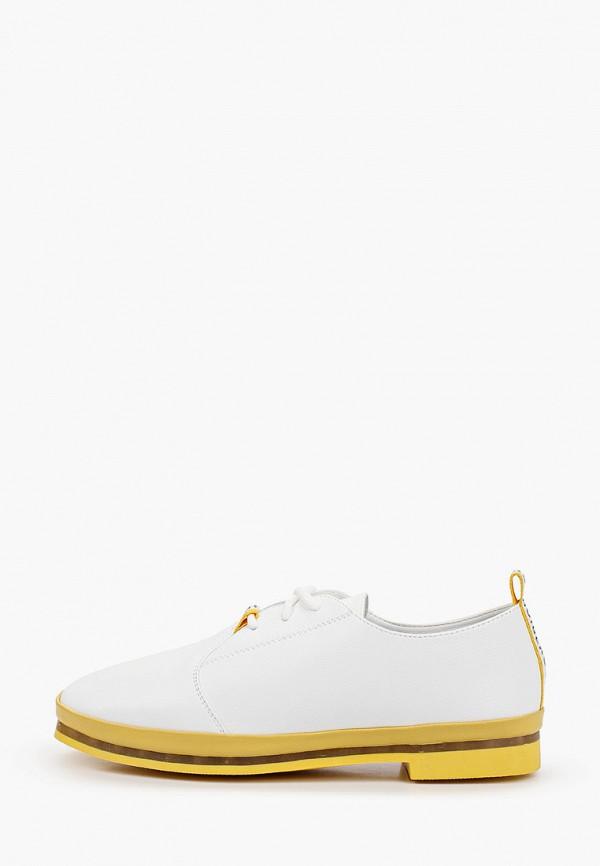 женские ботинки-оксфорды shoiberg, белые