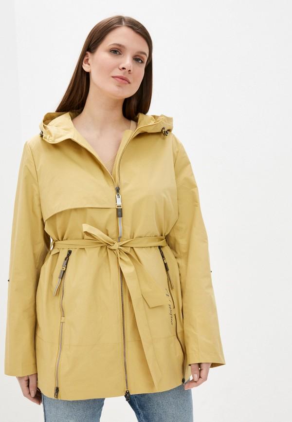 женская легкие куртка city savani, желтая