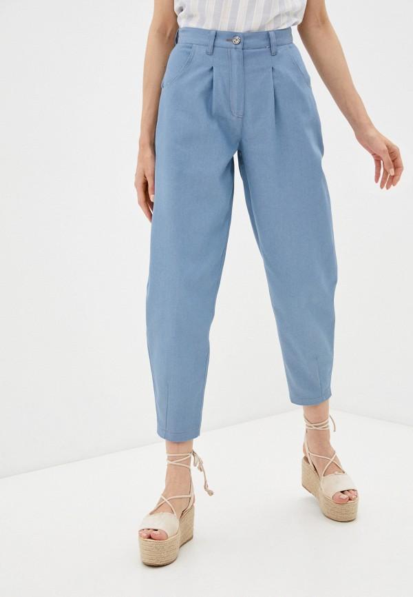 женские зауженные брюки dizzyway, голубые